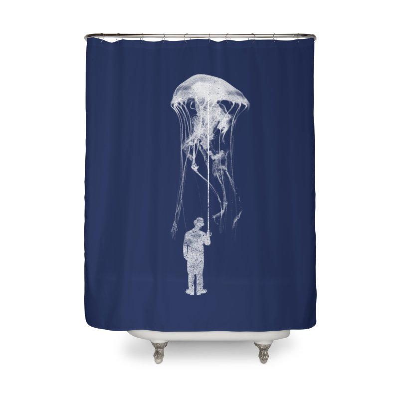 Unexpected Rain Home Shower Curtain by Misterdressup