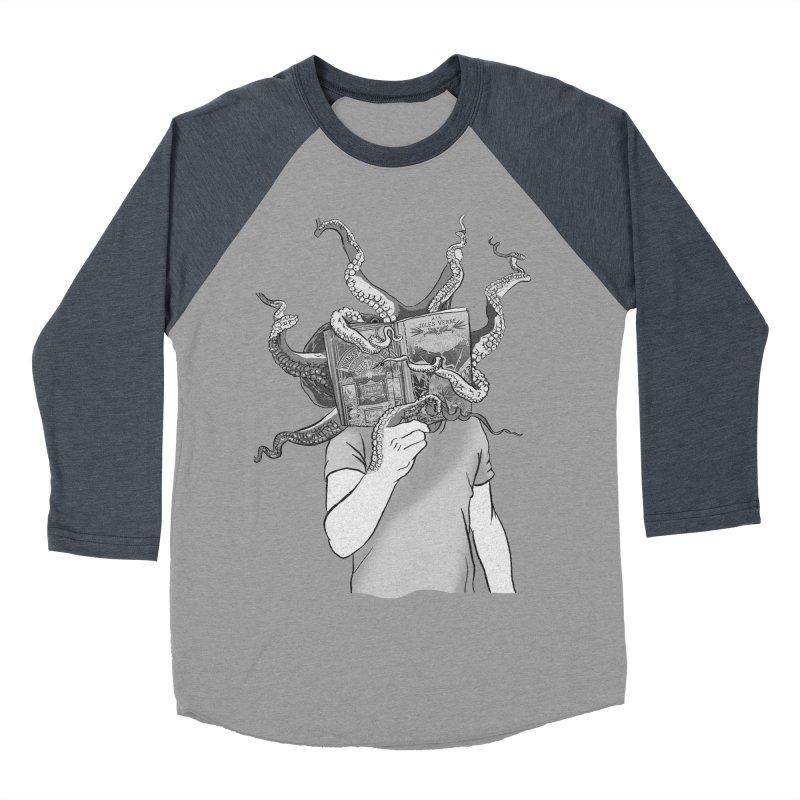 Jules Vernes Men's Baseball Triblend T-Shirt by Misterdressup