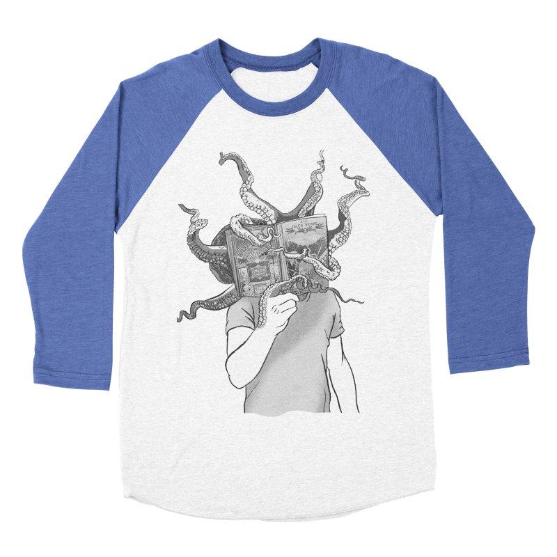 Jules Vernes Men's Baseball Triblend Longsleeve T-Shirt by Misterdressup