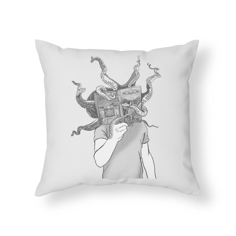 Jules Vernes Home Throw Pillow by Misterdressup