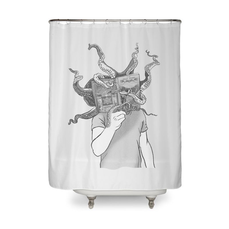 Jules Vernes Home Shower Curtain by Misterdressup