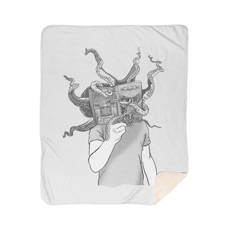 Jules Vernes Home Sherpa Blanket Blanket by Misterdressup