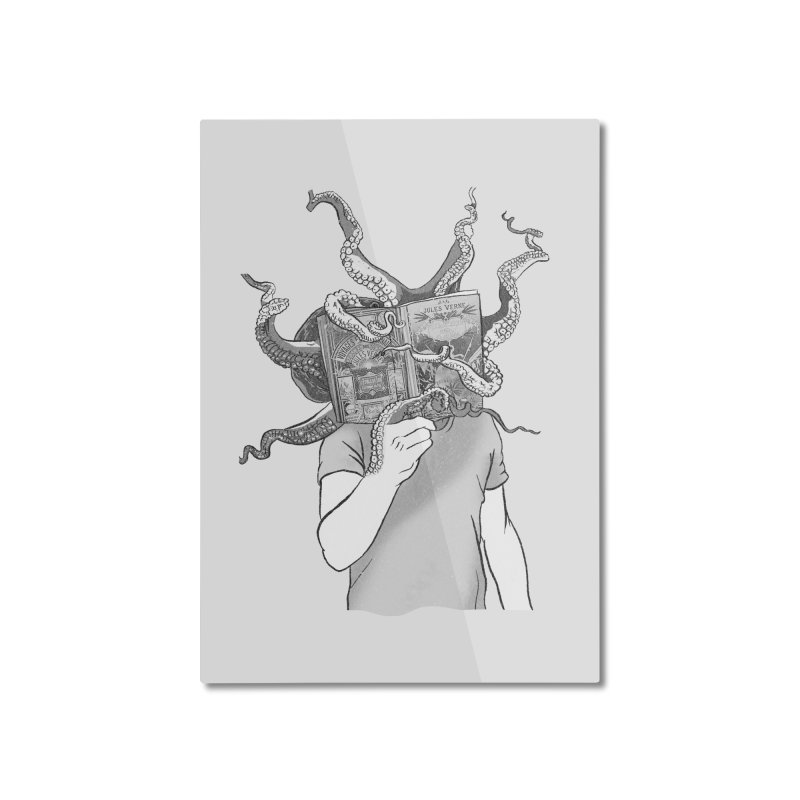 Jules Vernes Home Mounted Aluminum Print by Misterdressup
