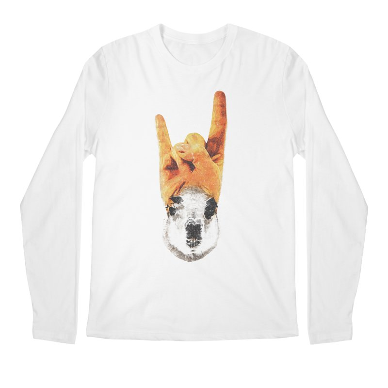 Lama Rock Men's Longsleeve T-Shirt by Misterdressup