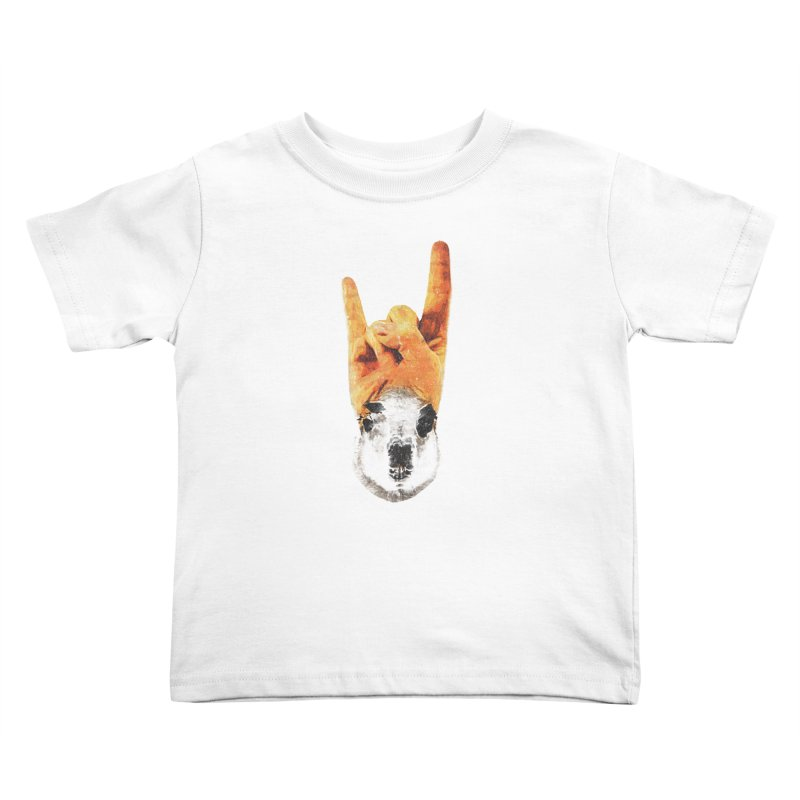 Lama Rock Kids Toddler T-Shirt by Misterdressup
