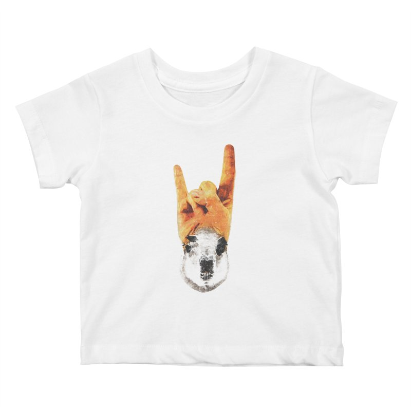 Lama Rock Kids Baby T-Shirt by Misterdressup