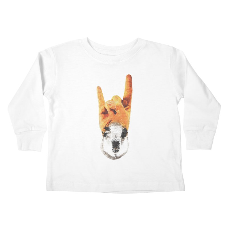 Lama Rock Kids Toddler Longsleeve T-Shirt by Misterdressup