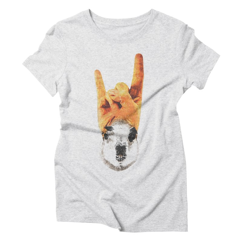 Lama Rock Women's Triblend T-Shirt by Misterdressup