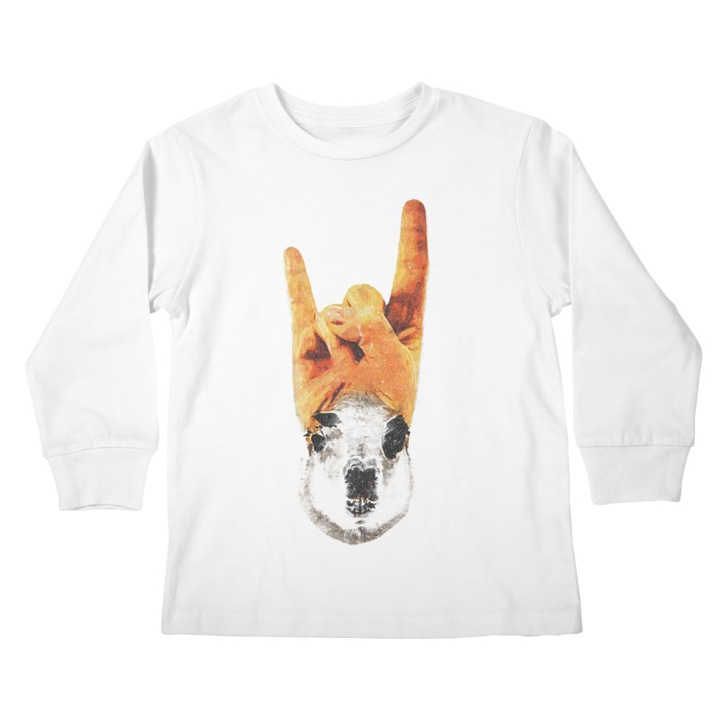 Lama Rock Kids Longsleeve T-Shirt by Misterdressup