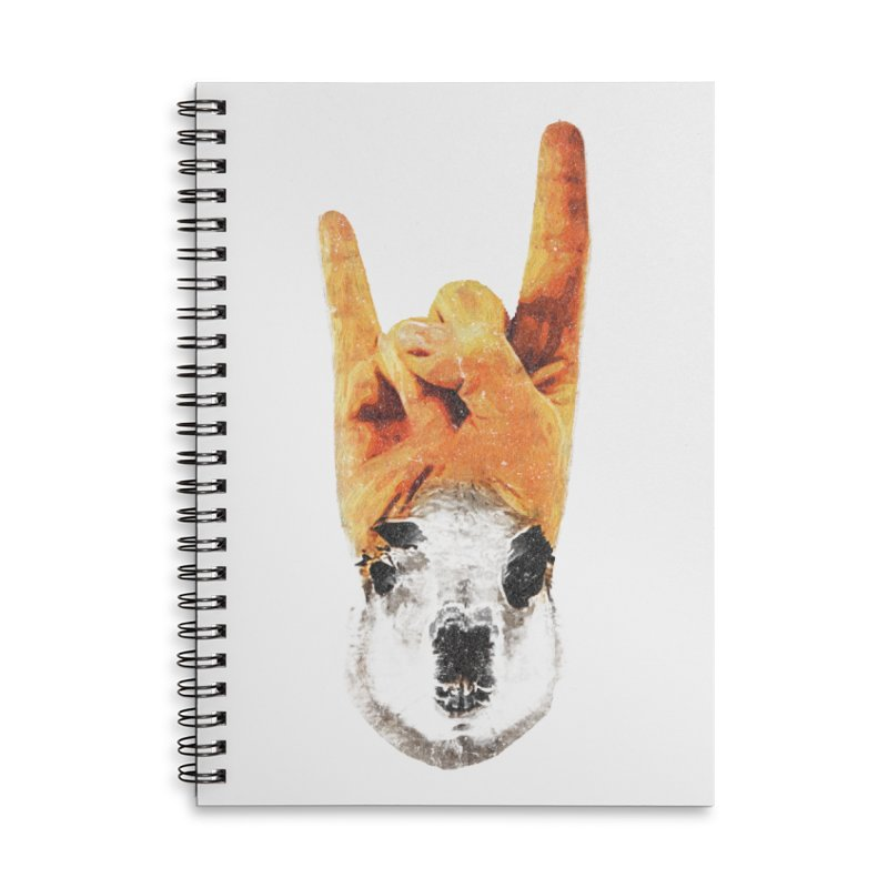 Lama Rock Accessories Lined Spiral Notebook by Misterdressup