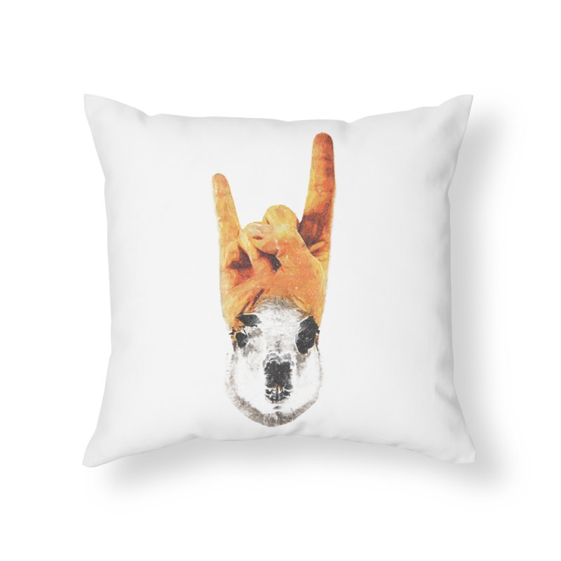 Lama Rock Home Throw Pillow by Misterdressup