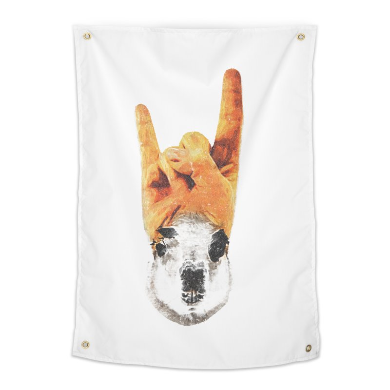 Lama Rock Home Tapestry by Misterdressup