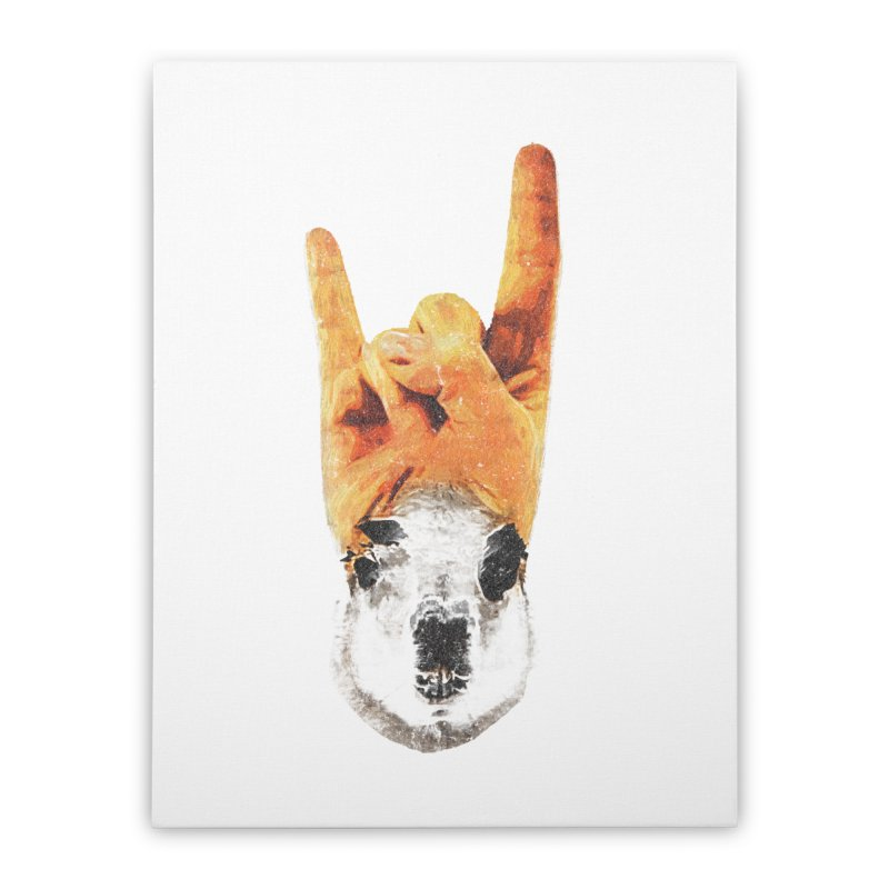 Lama Rock Home Stretched Canvas by Misterdressup