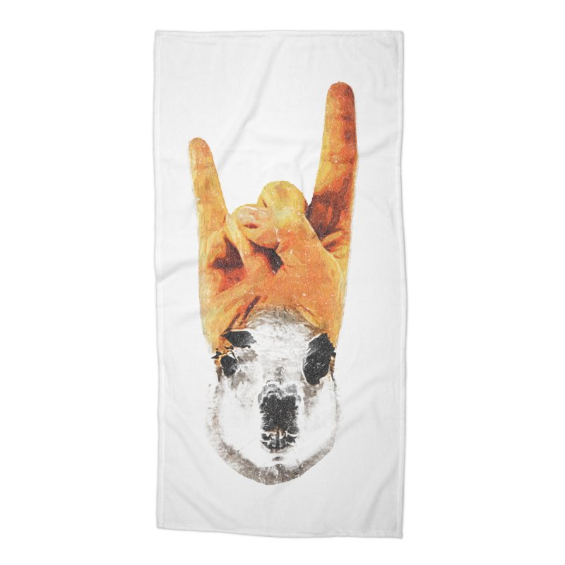 Lama Rock Accessories Beach Towel by Misterdressup