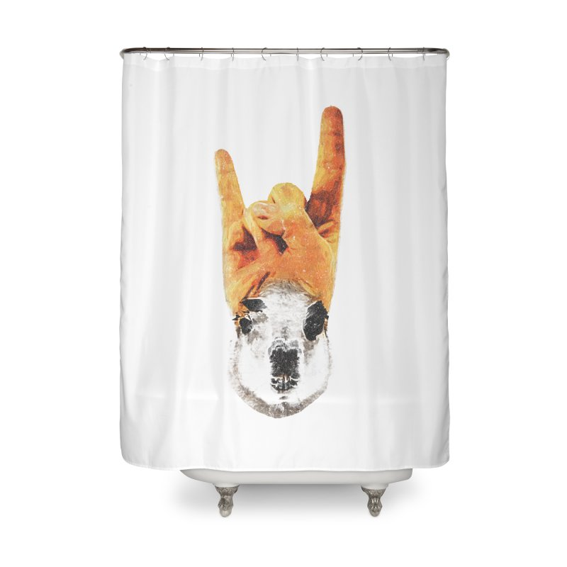 Lama Rock Home Shower Curtain by Misterdressup