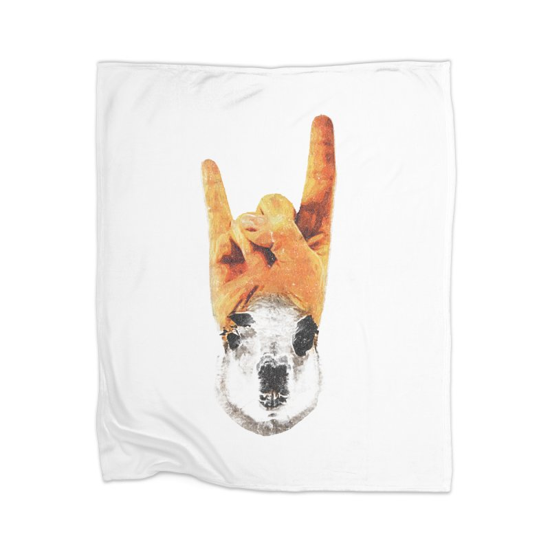 Lama Rock Home Blanket by Misterdressup