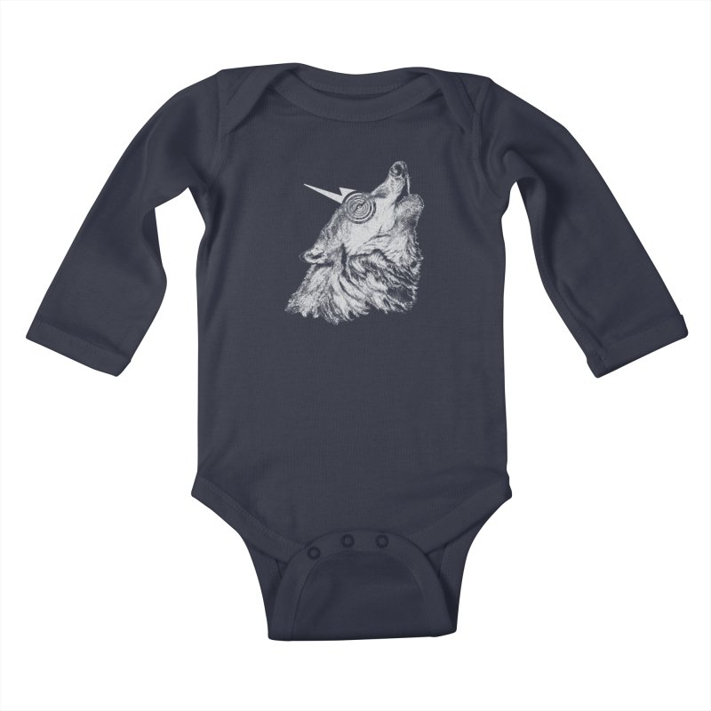 Tony White Kids Baby Longsleeve Bodysuit by Misterdressup