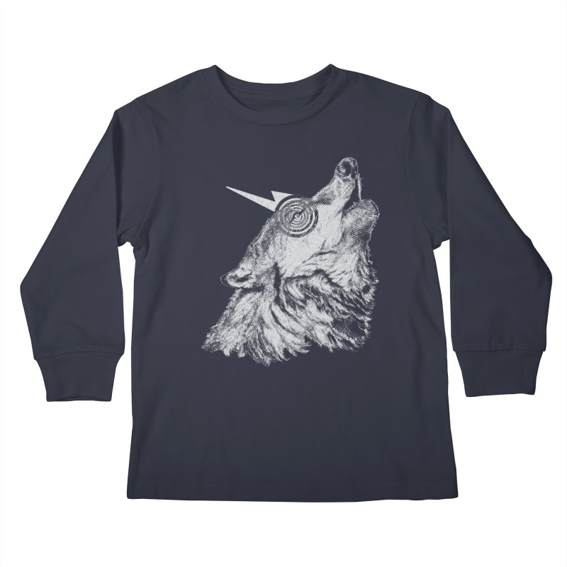 Tony White Kids Longsleeve T-Shirt by Misterdressup