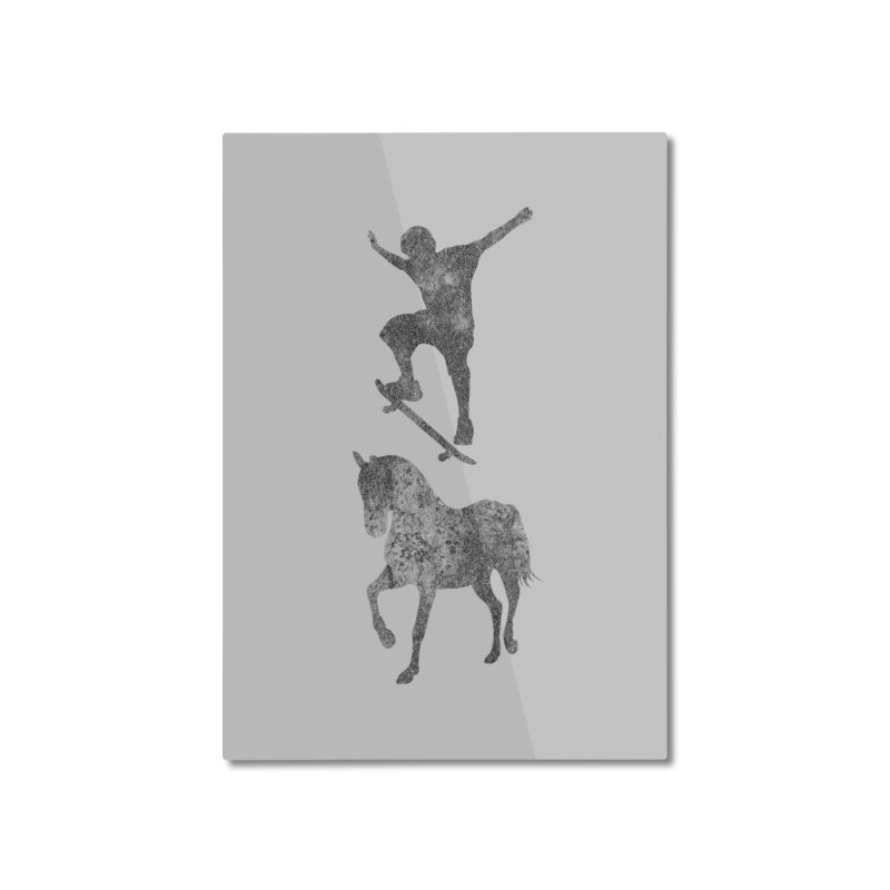 Tony Hawk Home Mounted Aluminum Print by Misterdressup