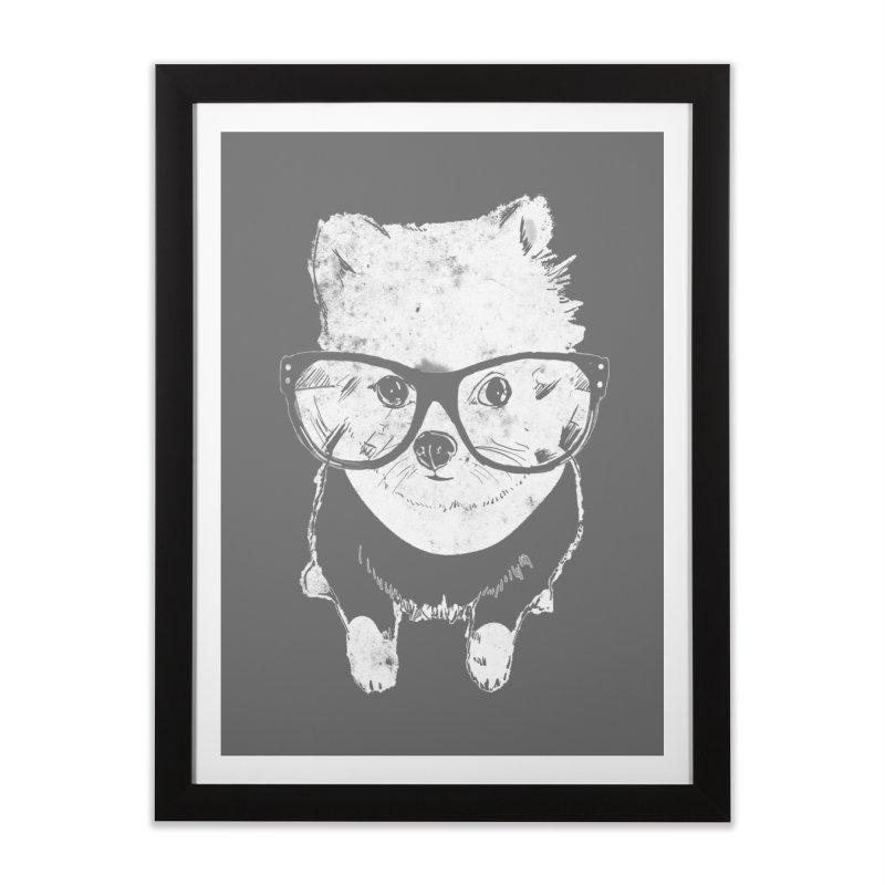 Geek Luv in Framed Fine Art Print Black by Misterdressup