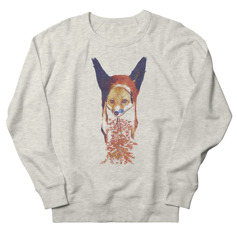 Fall Fox Men's French Terry Sweatshirt by Misterdressup