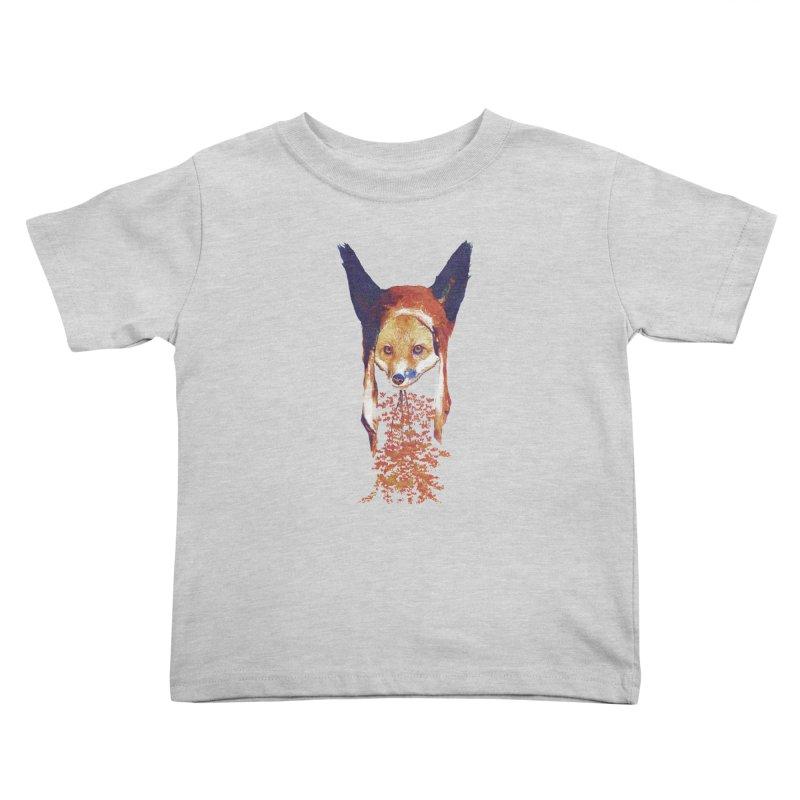 Fall Fox Kids Toddler T-Shirt by Misterdressup