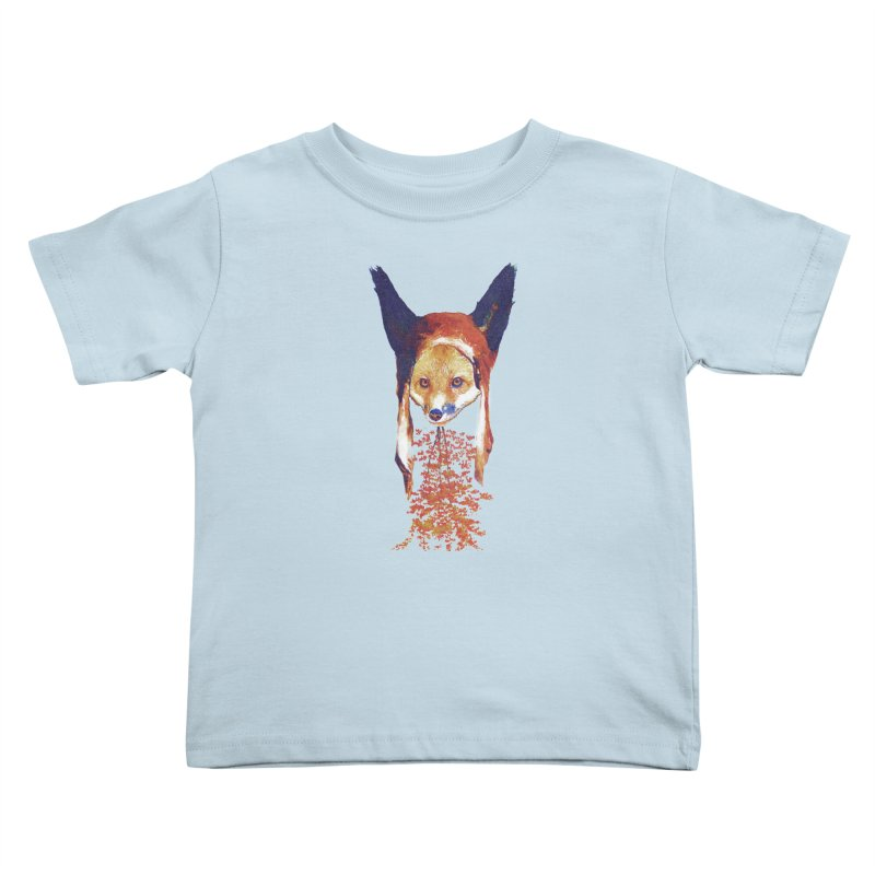 Fall Fox Kids Toddler T-Shirt by Misterdressup