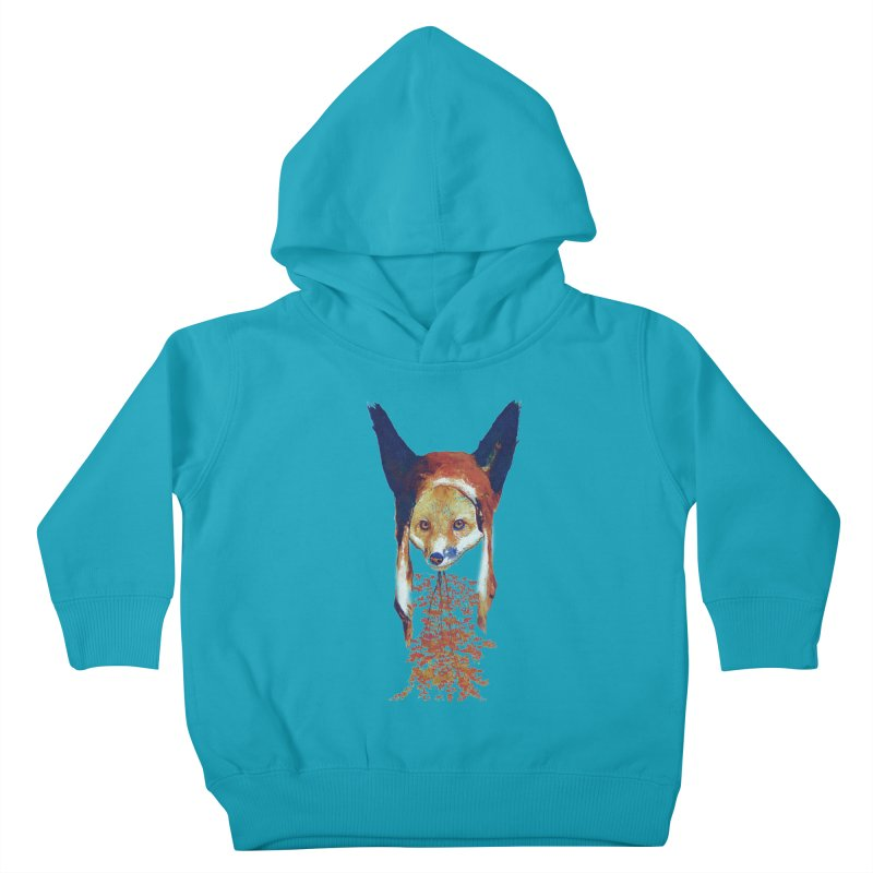 Fall Fox Kids Toddler Pullover Hoody by Misterdressup