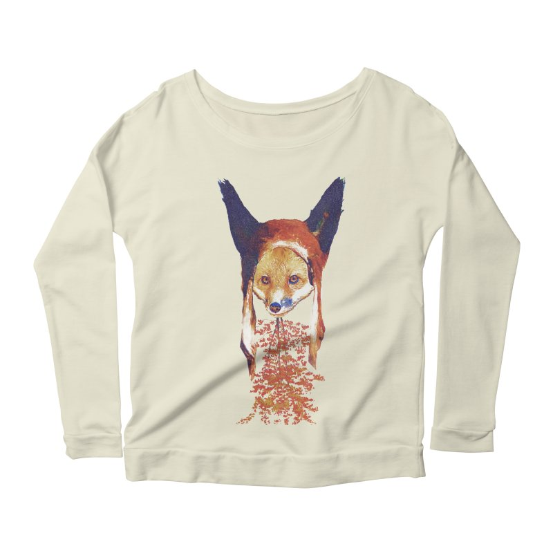 Fall Fox Women's Scoop Neck Longsleeve T-Shirt by Misterdressup