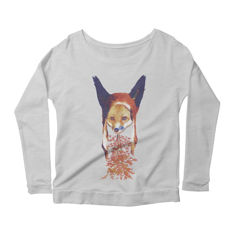 Fall Fox Women's Longsleeve T-Shirt by Misterdressup