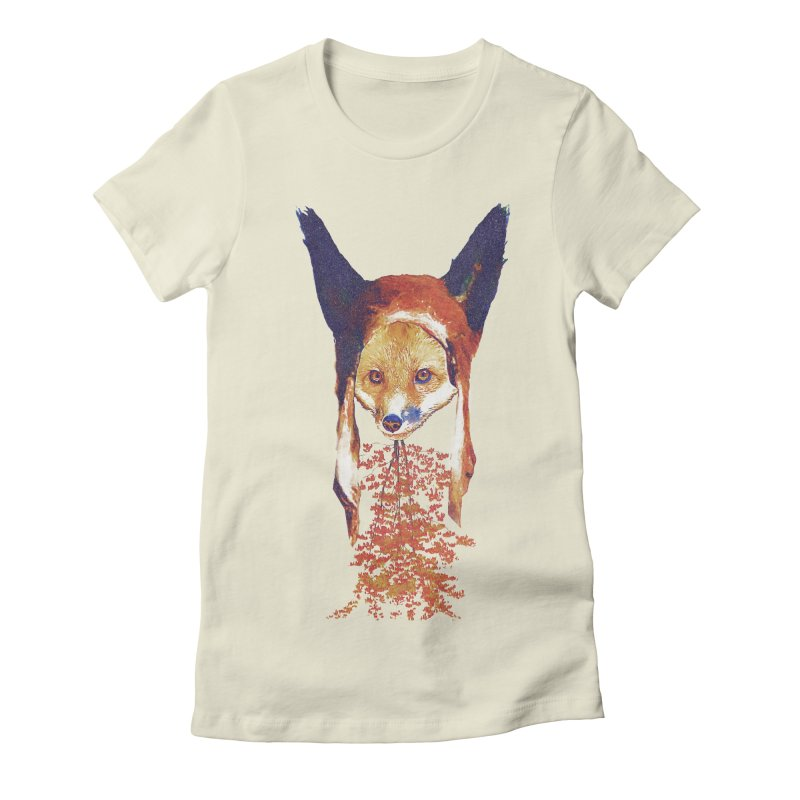Fall Fox Women's Fitted T-Shirt by Misterdressup