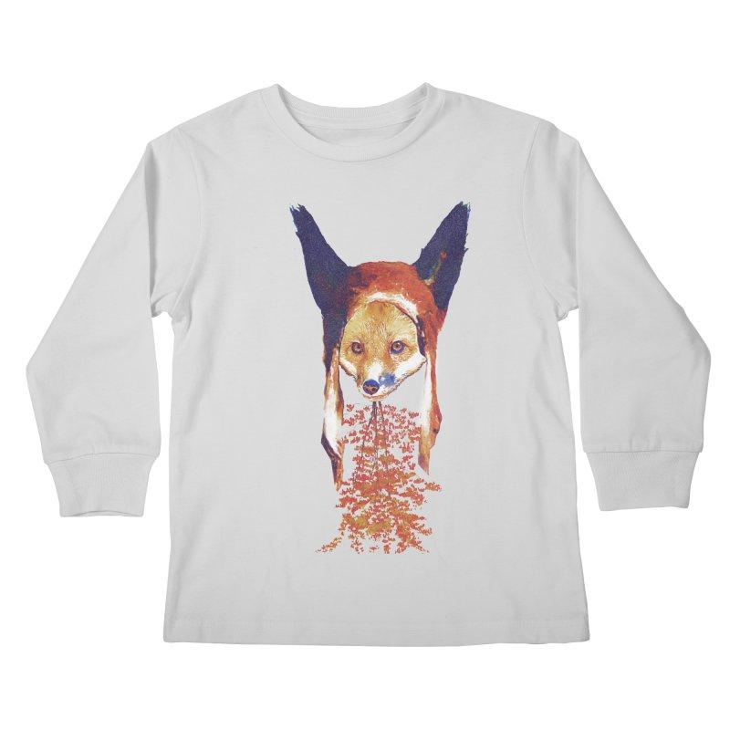 Fall Fox Kids Longsleeve T-Shirt by Misterdressup
