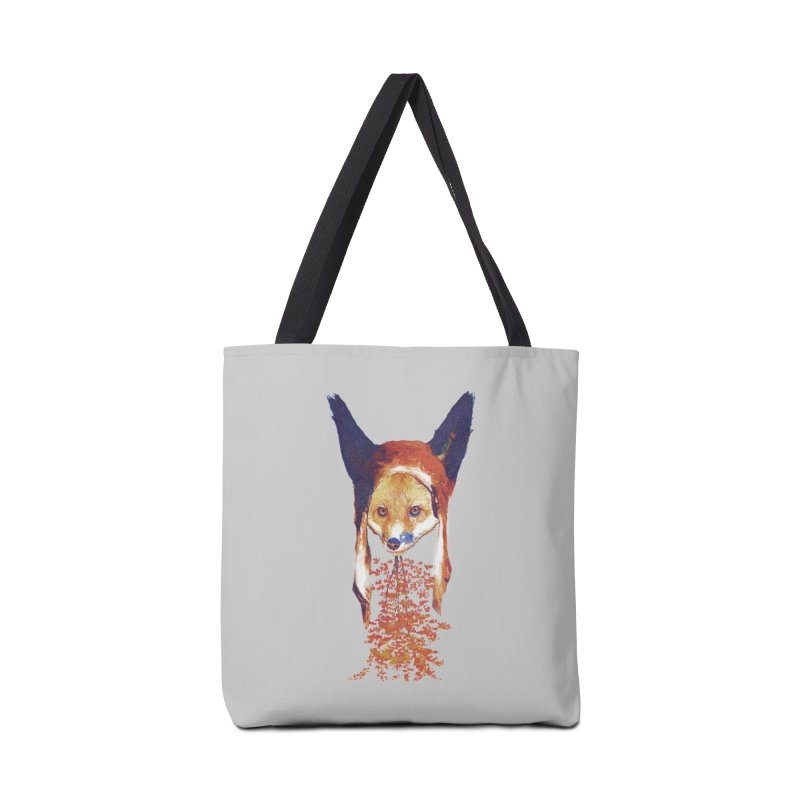 Fall Fox in Tote Bag by Misterdressup