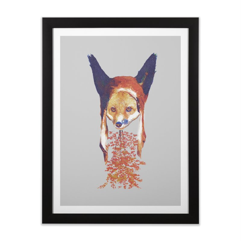 Fall Fox Home Framed Fine Art Print by Misterdressup
