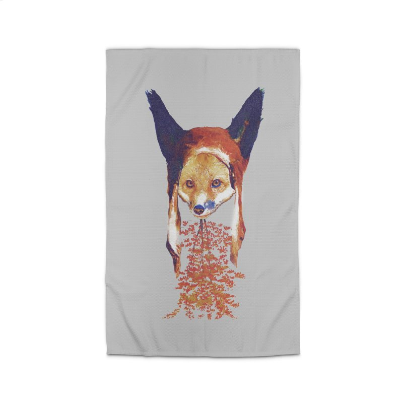 Fall Fox Home Rug by Misterdressup