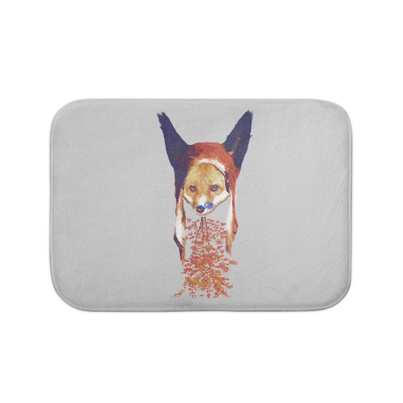 Fall Fox Home Bath Mat by Misterdressup