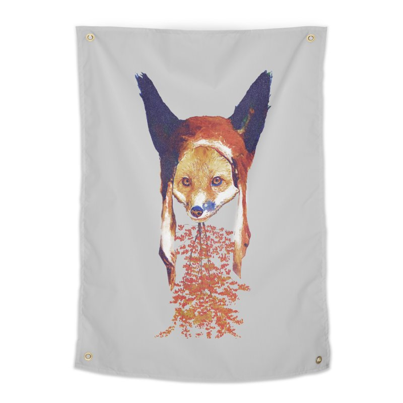 Fall Fox Home Tapestry by Misterdressup