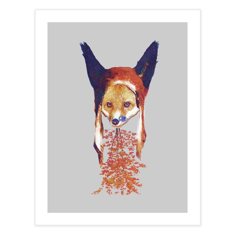 Fall Fox Home Fine Art Print by Misterdressup