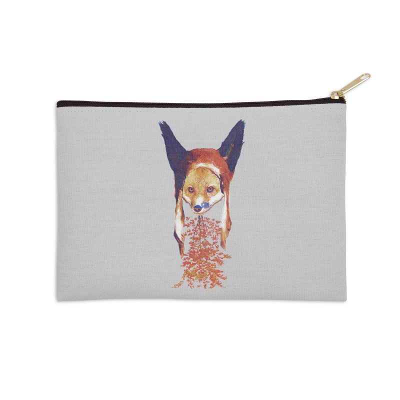 Fall Fox Accessories Zip Pouch by Misterdressup