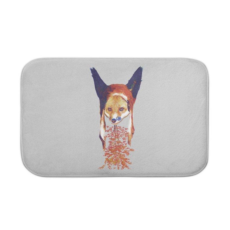 Fall Fox Home Bath Mat by Misterdressup