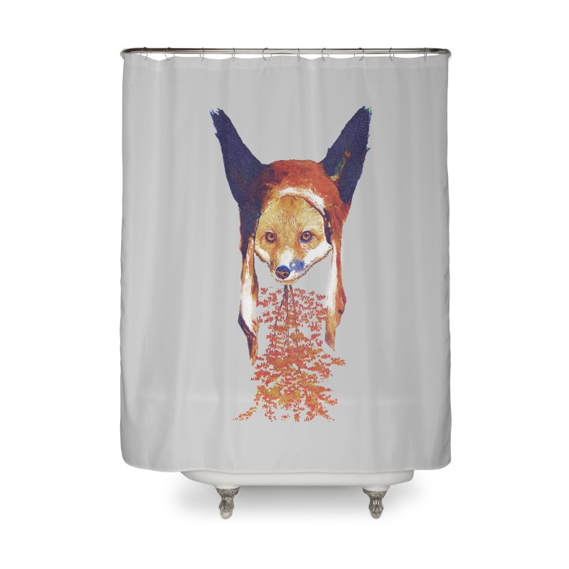 Fall Fox Home Shower Curtain by Misterdressup