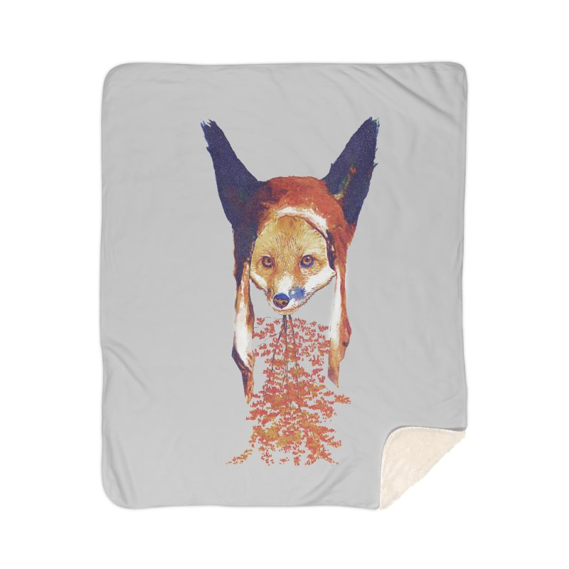 Fall Fox Home Blanket by Misterdressup