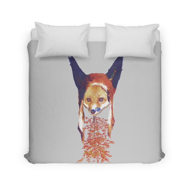 Fall Fox Home Duvet by Misterdressup