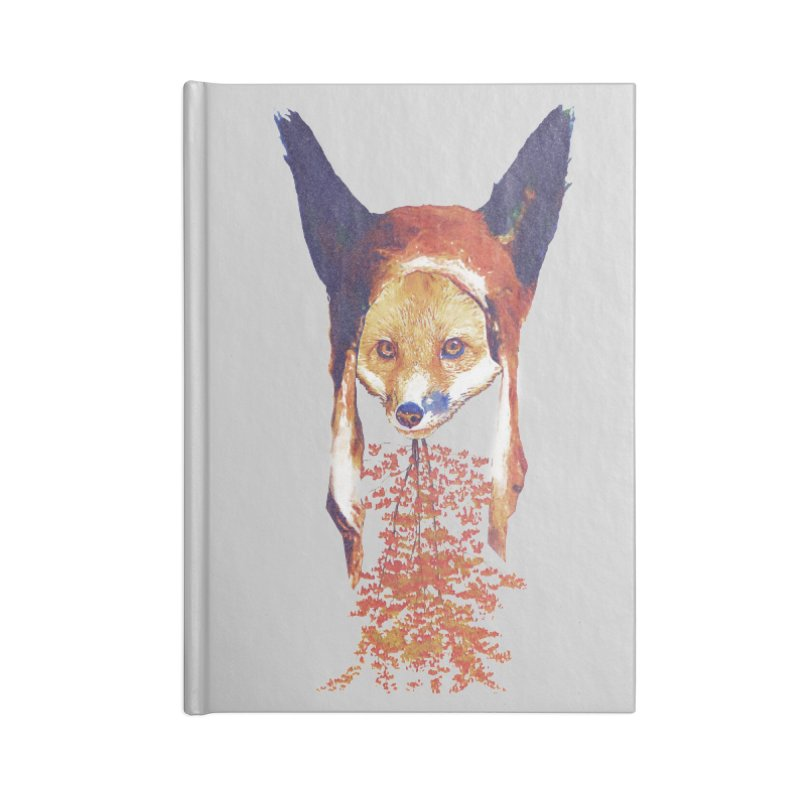 Fall Fox Accessories Lined Journal Notebook by Misterdressup