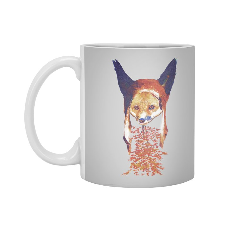 Fall Fox Accessories Standard Mug by Misterdressup