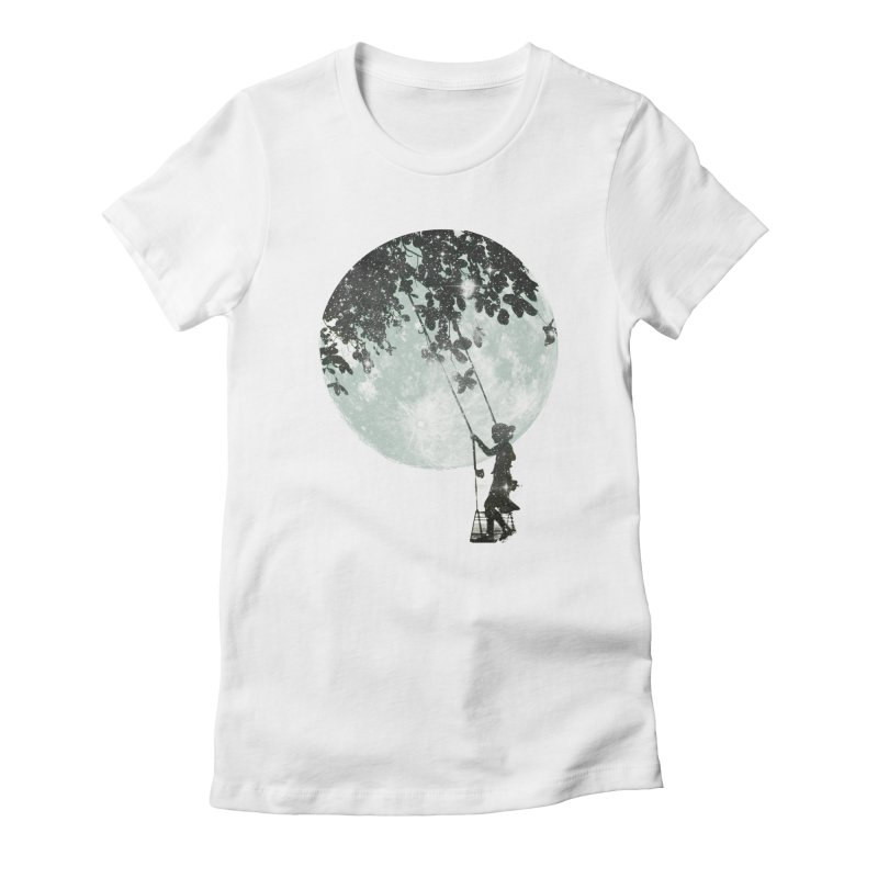 Swing Around Women's Fitted T-Shirt by Misterdressup