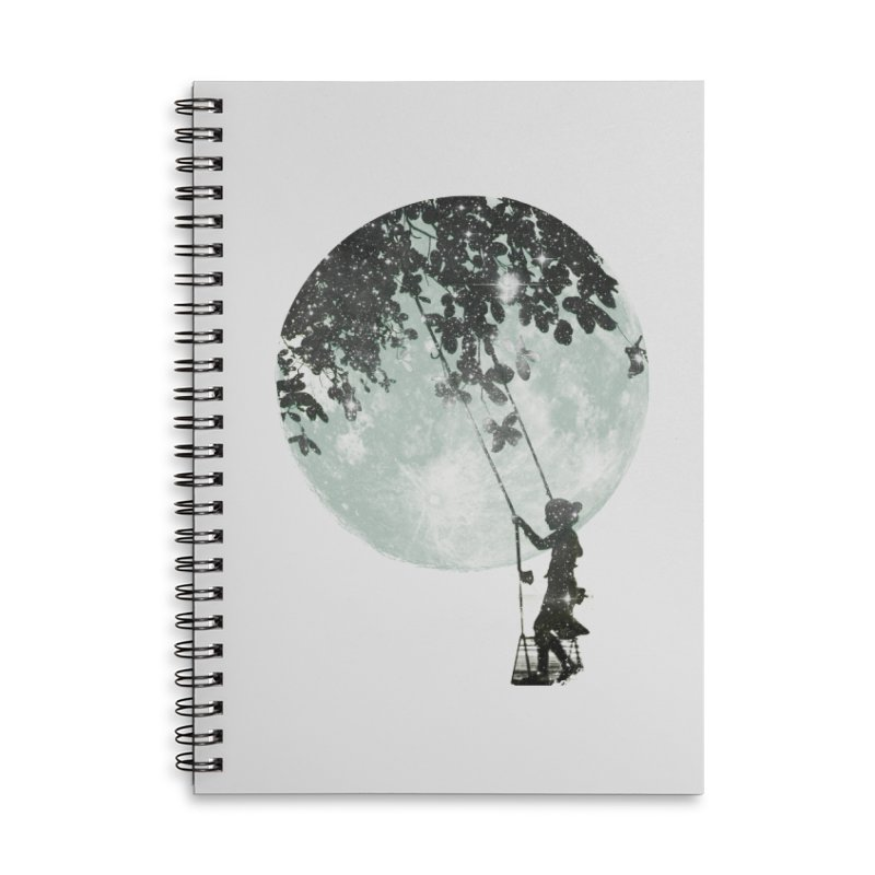 Swing Around Accessories Lined Spiral Notebook by Misterdressup