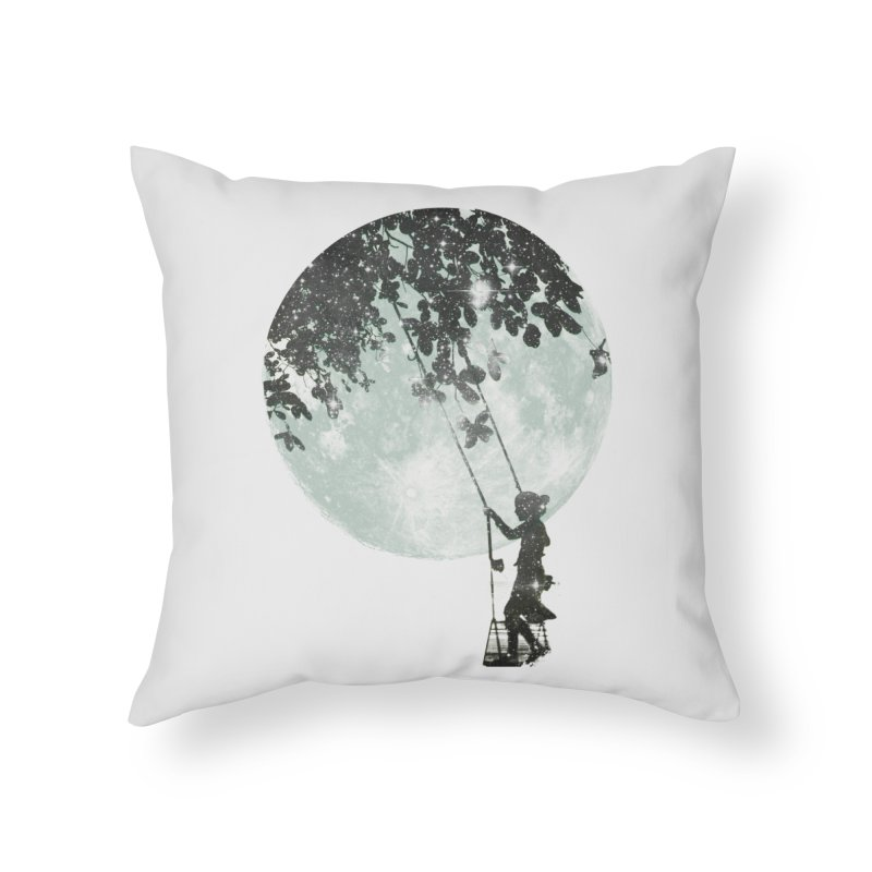 Swing Around Home Throw Pillow by Misterdressup