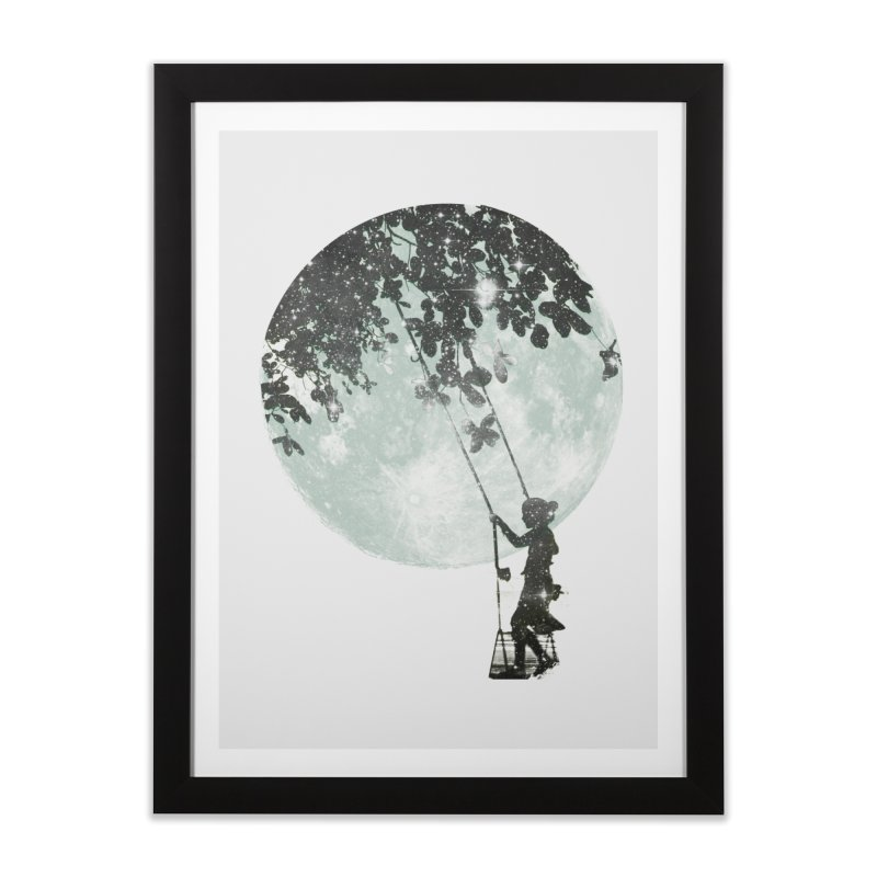 Swing Around Home Framed Fine Art Print by Misterdressup