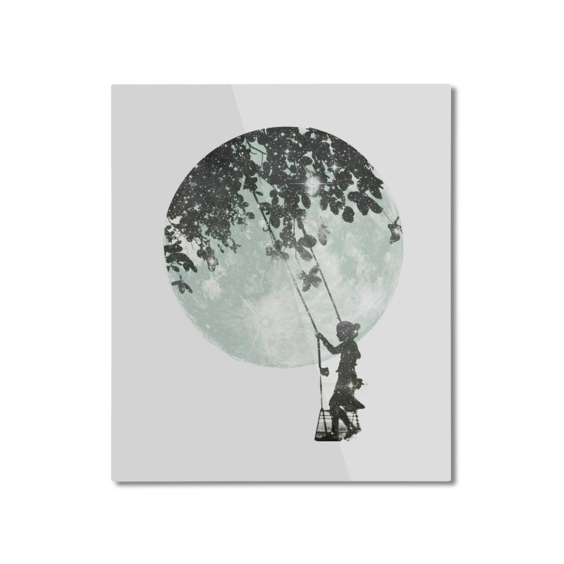 Swing Around Home Mounted Aluminum Print by Misterdressup